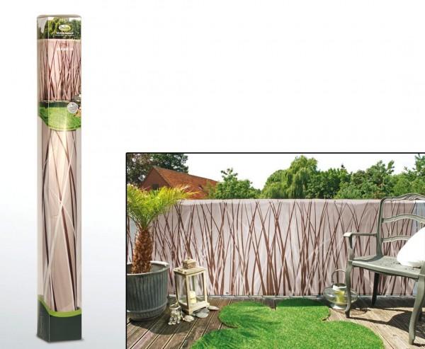 """Balkonsichtschutz mit """"Stil"""" Motiv, Höhe 90cm x Länge 300cm"""
