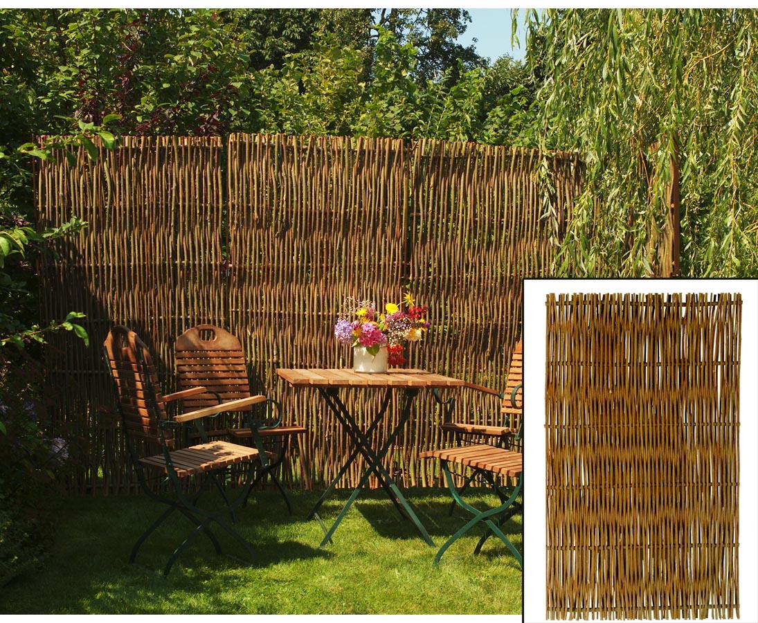 Bambus Discount Com Weidenzaun Mia Mit 120x120cm In Premium