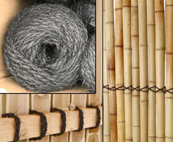 Palm- Kokosfaser Seil schwarz mit 3mm 50m gerollt