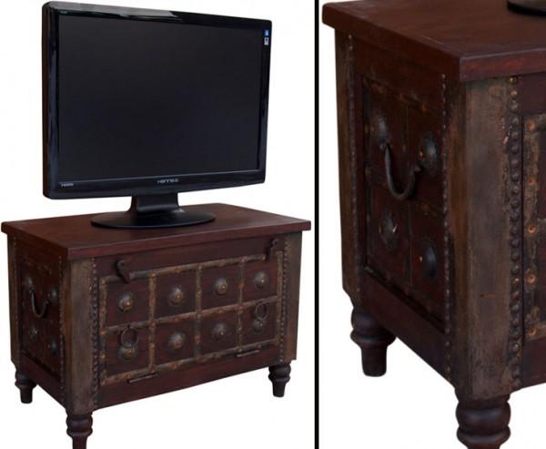 TV Kolonialmöbel als Fernsehtisch mit 50x70x40cm
