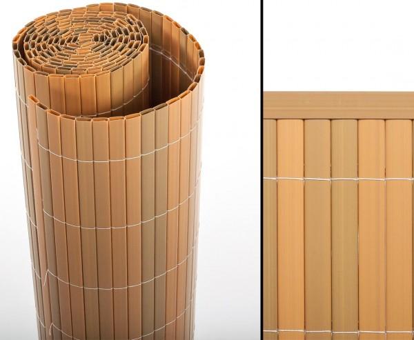 """Balkon Sichtschutz """"Sylt"""" mit 160 x 300cm, teak farbig"""