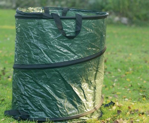 Laubsack für Gartenabfälle, aus PE Material grün, Höhe 68cm und einen Durch. von 55cm