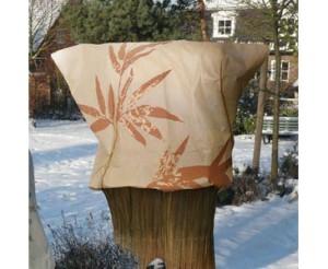 Kälteschutz mit Bambus Motiv für Pflanzen