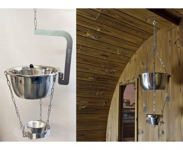 """Wasser Aufguss Hänger """"Tropfen"""" für Sauna"""