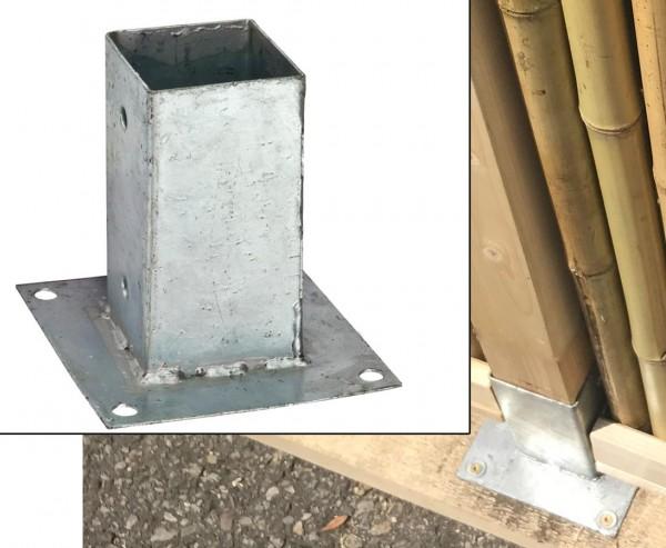 Aufschraubhülse für Zaunpfosten mit 7x7cm