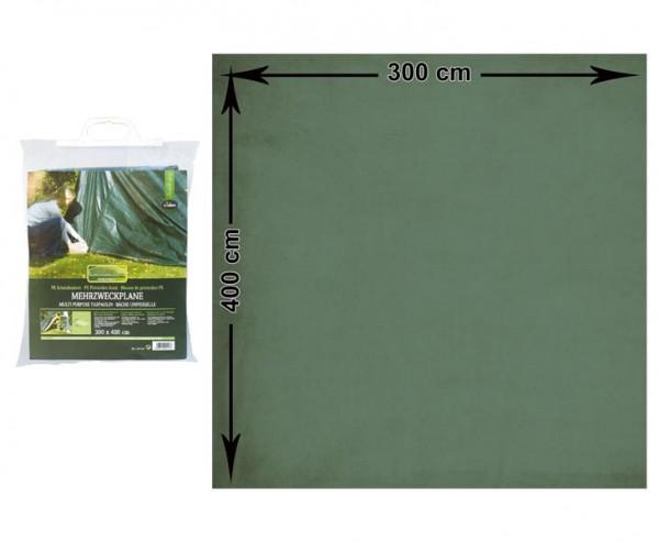 Abdeckplane Pool, witterungsbeständiges PE Material grün, L: 400cm x B: 300cm