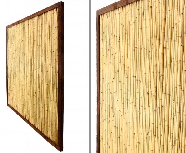 "Bambuswand ""KohSamui Klassik"" 180 x 180cm dunkel gerahmt"