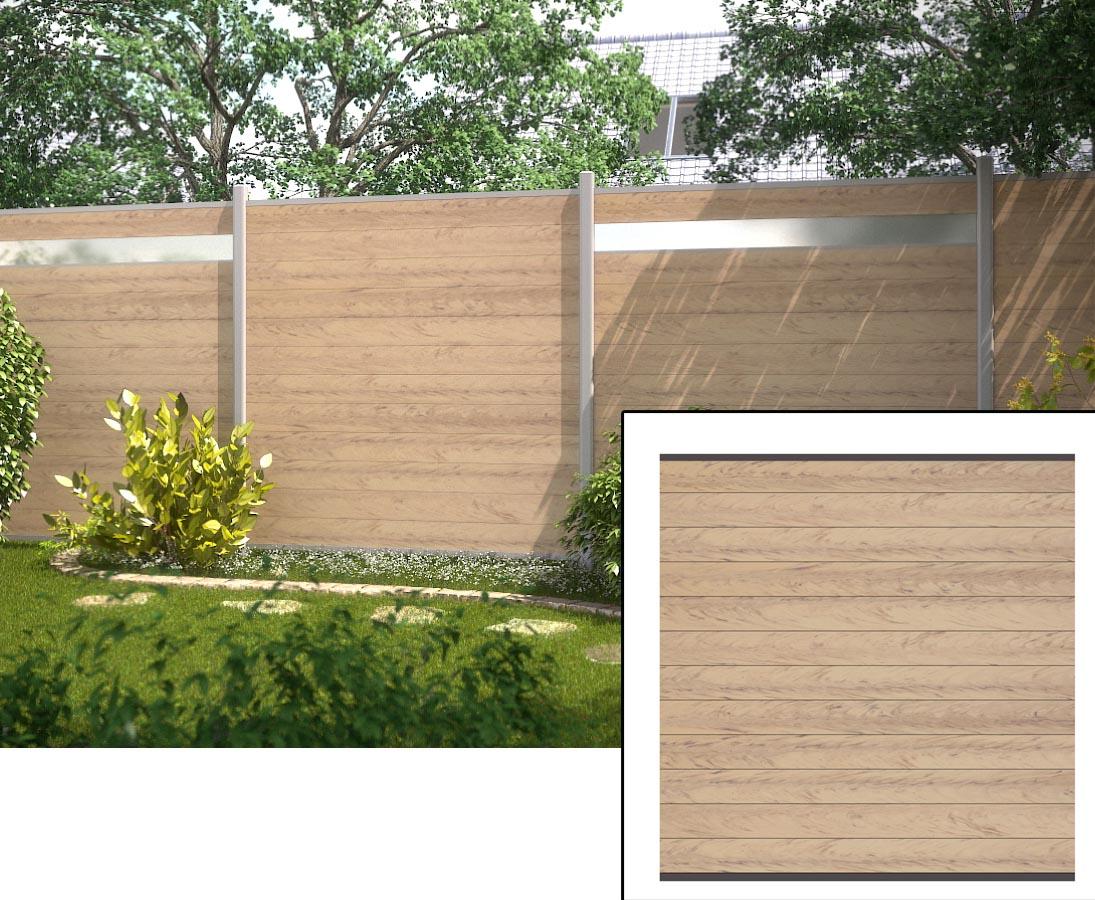 Sichtschutzzaun Set Wpc Sand Farbig Mit Pfosten Hier Bestellen