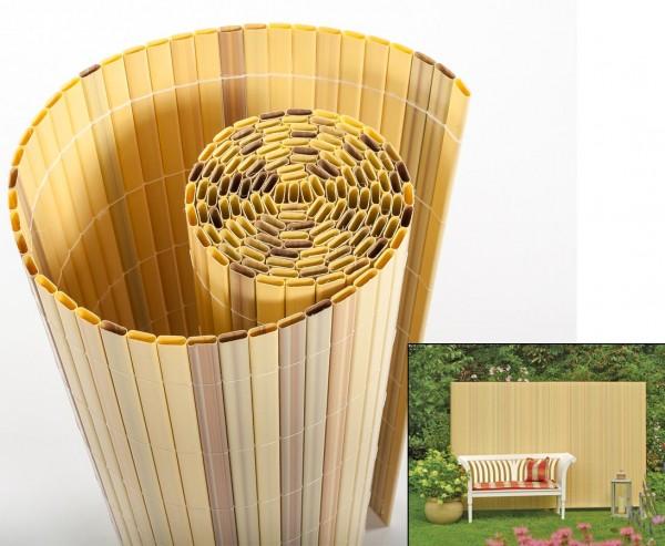"""PVC Sichtschutzmatte, """"Sylt"""" 180 x 300cm bambus"""