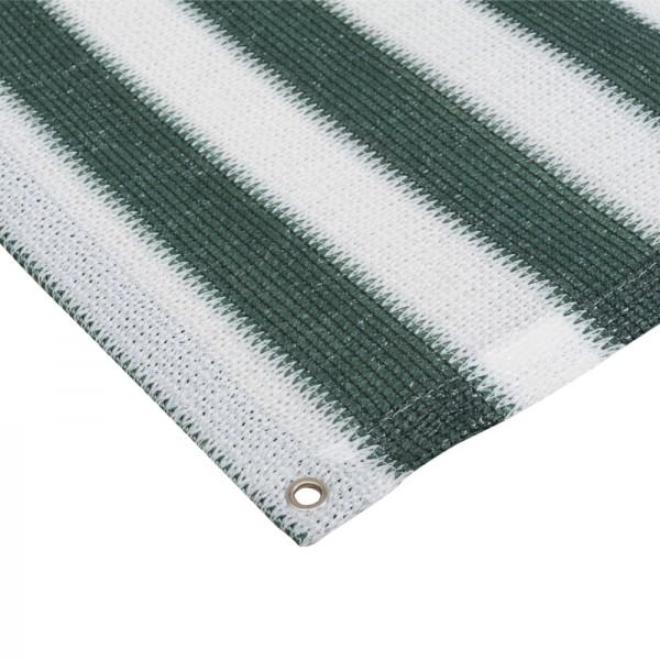 Balkonblende, Rolle mit 90 x 250cm grün/weiß