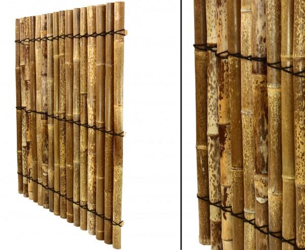 """Bambus Element """"Apas13"""" 150 x 120cm aus schwarz-braunen Bambusschalen"""