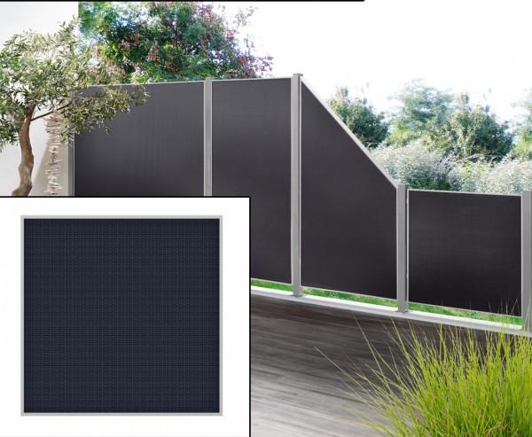 """Sichtschutzzaun """"Weave Lüx"""", Textil Bespannung 88 x 88cm, anthrazit"""