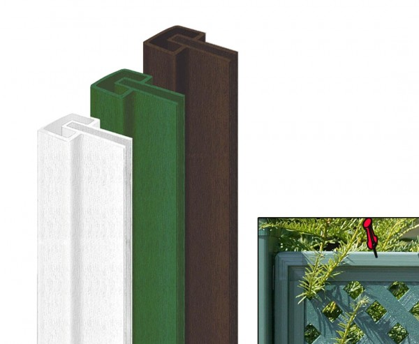 Rahmenprofil grün für Sichtschutz Coventry, 175 x 5cm