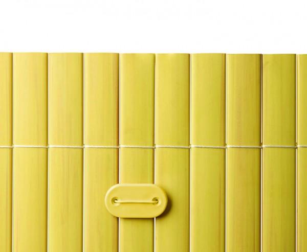 Befestigungsset für PVC Sichtschutzmatten bambus farbig, 26 Stück