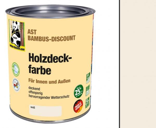 Holzfarbe weiß 0,75l zum lackieren von Bambus im Innen und Außenenbereich