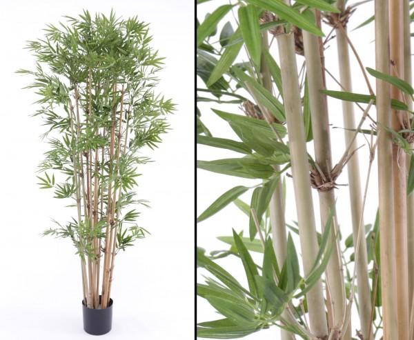 Bambus, Kunstbaum mit ca. 1440 Blättern, Höhe 150cm