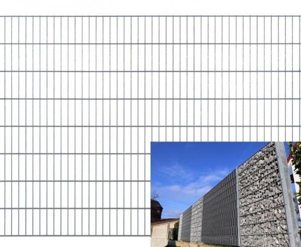 Gitterdrahtzaun für Gabionen fvz. 140x250cm, Modell 8/6/8 Masche 50/200