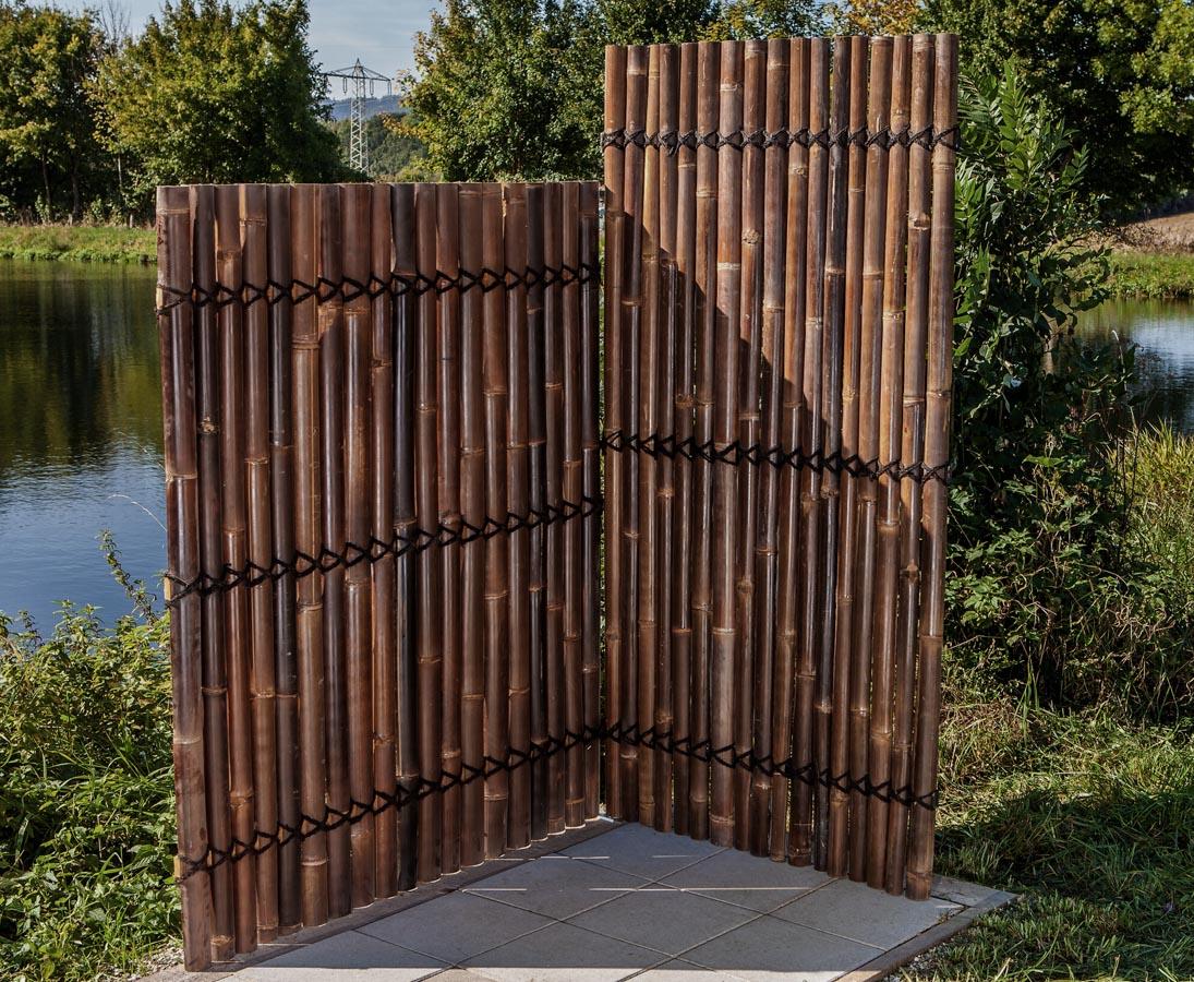 Bambus Zaun Apas Schwarz Braun Gunstig Bestellen