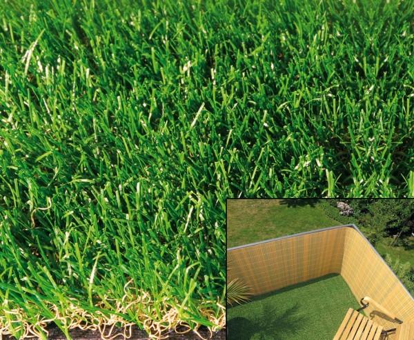 Rasenteppich mit 19mm, schwer entflammbar und UV beständig, 100 x 300cm
