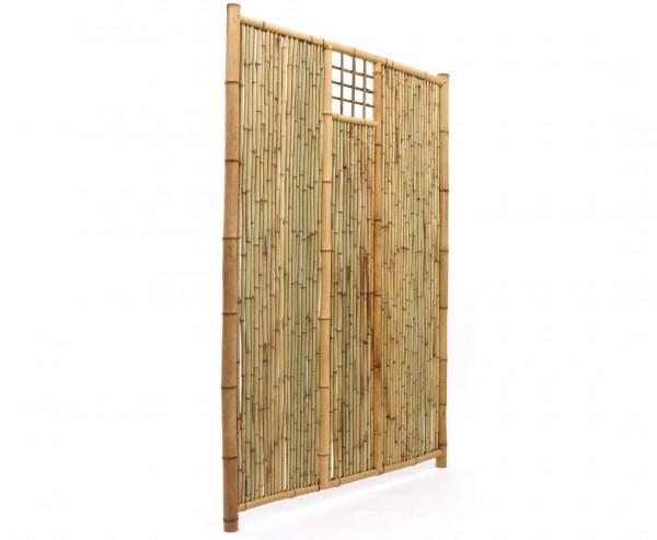 """Bambus Sichtschutzwand """"TEN New Line6"""" mit Ausschnitt mittig 180 x 120cm"""
