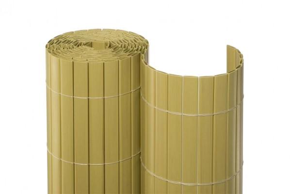 """PVC Sichtschutz für Zaun """"Dresden"""" eco mit 180 x 1.000cm, Farbe bambus"""