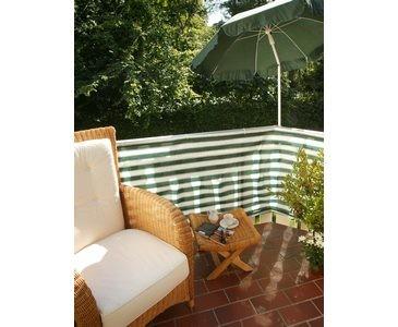 Balkonbespannung aus PE Material 90x500cm, grün/weiß