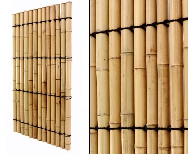 """Bambus Sichtschutzzäune """"Apas10"""" gelblich mit 180 x 90cm"""