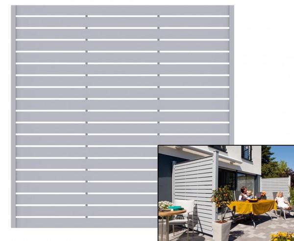 """Sichtschutz Element """"Novo"""", grau 180x180cm aus Kunststoff"""