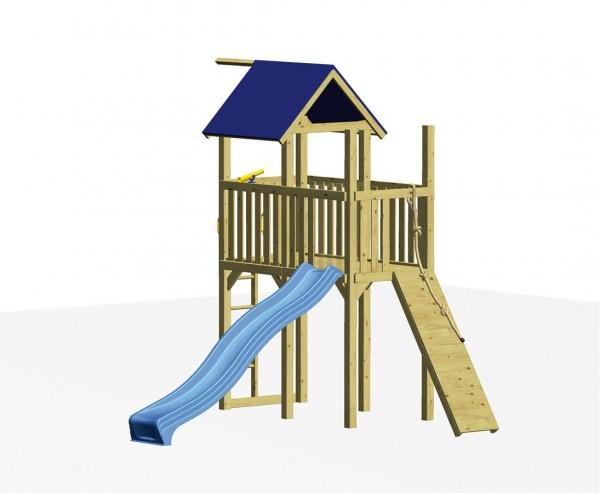 """Spielturm Set """"CITYLIVE"""" mit Rutsche und Klettersteg"""