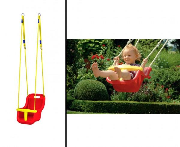Babysitz für Schaukel Winnetoo Spielsystem, rot-gelb