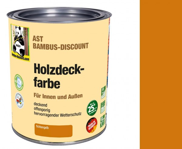 Holz - und Bambus Farbe fichtengelb 0,75 Liter für innen und außen