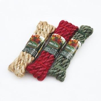 Kordel aus Jute, braun farbig mit 1,2 x 200cm, zum dekorativen verschnürren