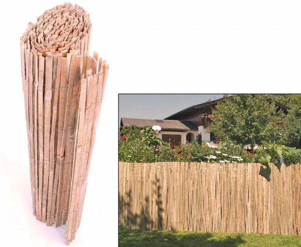 """Sichtschutzmatte aus gespaltenem Bambus """"BEACH"""" 150 x 500 cm"""