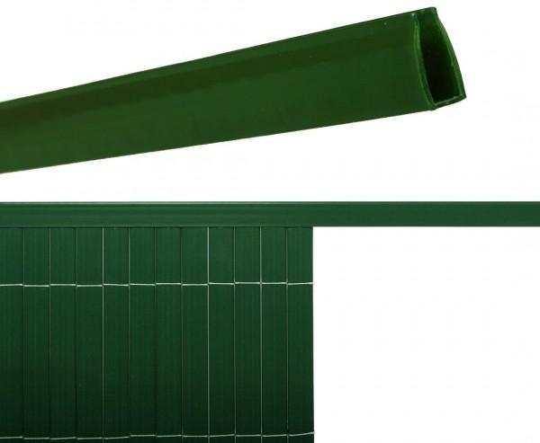Abschlußkante U- Profil für Kunststoffmatten grün, mit einer Länge von 150cm