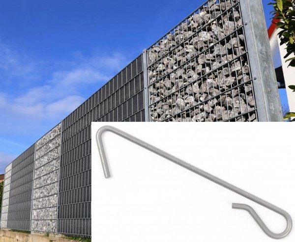 Distanzhalter für Gabionen Steinmauer 4,5mm, für Profilpfahl 120x40mm