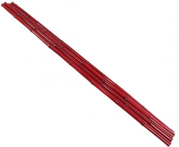 Rot gefärbtes Bambusrohr 200cm mit 4,8 bis 6cm, Moso Bambus