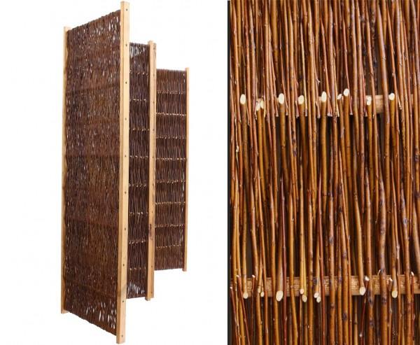 """Weiden Paravent, Raumteiler """"Easy eco"""", Breite 180 x Höhe 120cm, 3 teilig"""