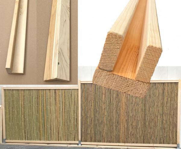 Gut bekannt U Profil zum Bambuszaun Selbstbau 300cm hier günstig kaufen VX97
