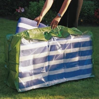 Tasche für Gartenmöbelauflagen, PE Material, Abmessungen 50x35x125cm, grün