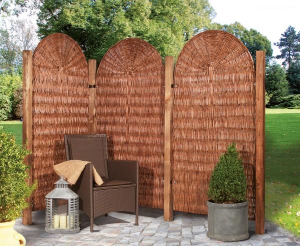 Weiden Sichtschutz, Palma mit 90 x 180cm, abgerundete Form, natur