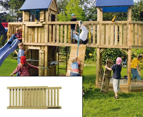 Holzbrücke für Basis Spielturm, Bausatz mit 113x180x89cm