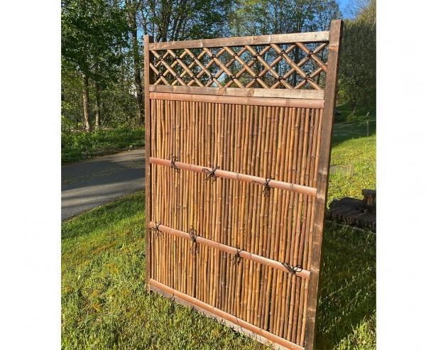 """Bambuselement """"Japan Stil"""" 180 x 120cm, dunkler Rahmen-Copy"""