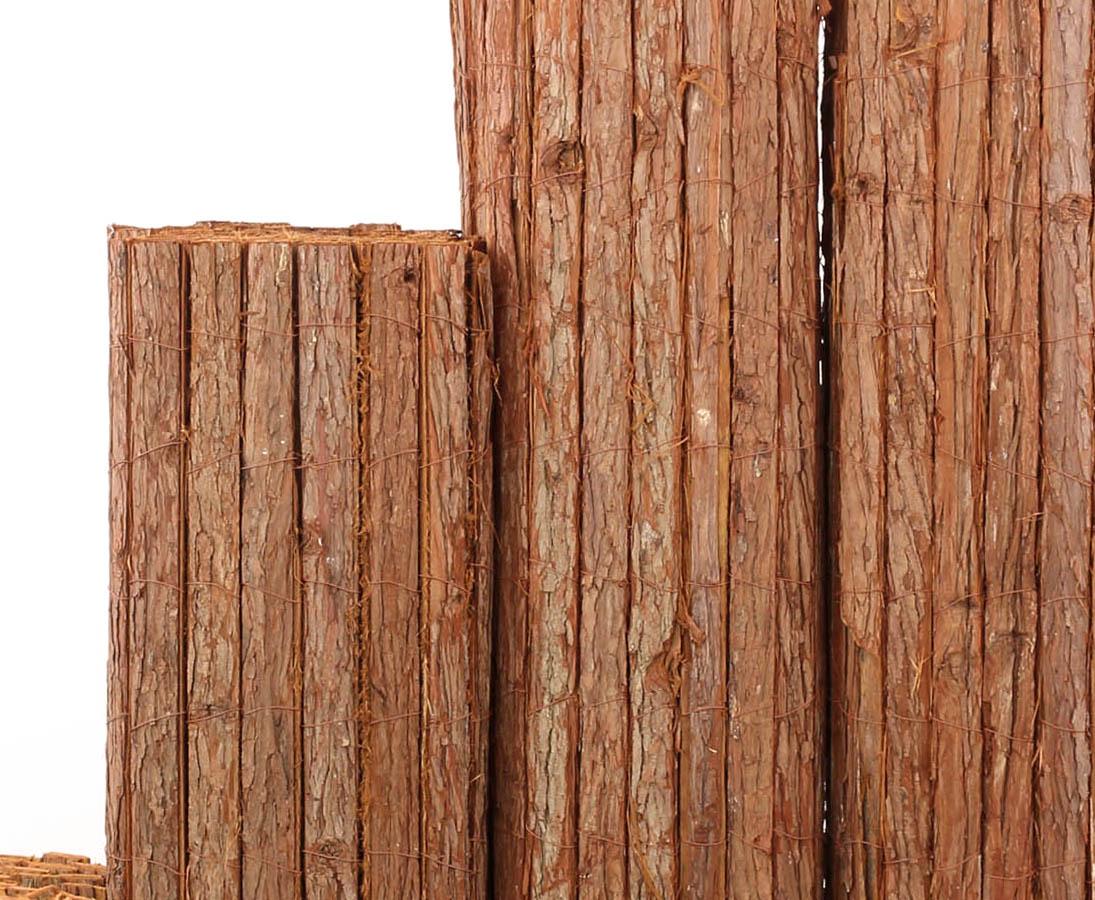 bambus-discount.com Rindenmatte Country Premium-Qualit/ät g/ünstig 150 x 300cm Sichtschutzmatte