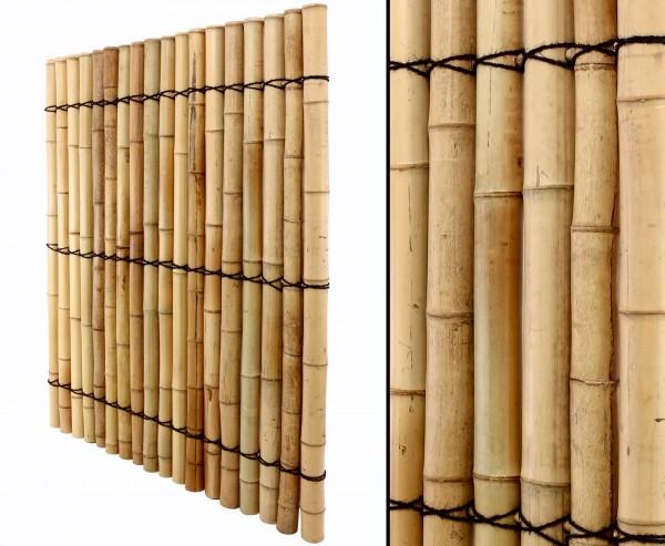 """Bambus Sichtschutzzaun """"Apas9"""" gelblich mit 150 x 120cm"""