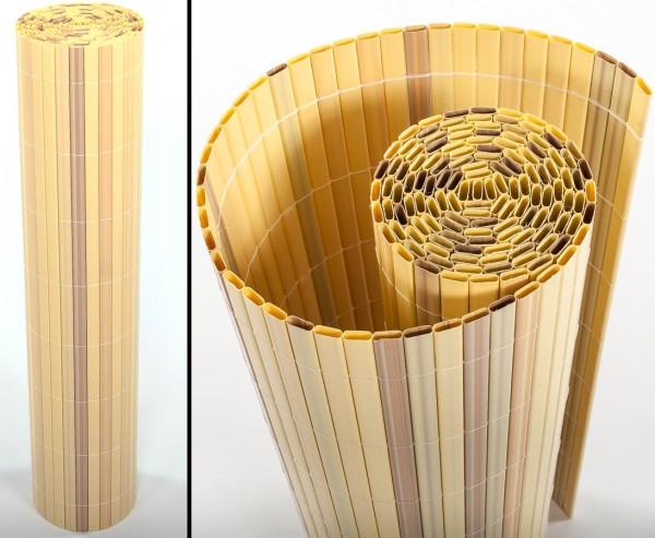 """Sichtschutzmatten PVC, """"Sylt"""" 90 x 200cm bambus"""