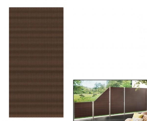 Sichtschutz Polyrattan Geflecht mocca, 178 x 88cm