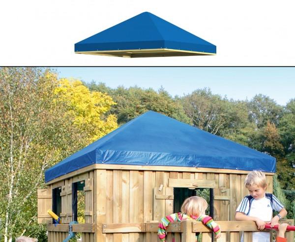Dach mit PE Plane blau für Giga Spielturm, 202x202x83cm