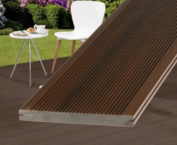 WPC Terrassendielen braun 300cm, DreamDeck Platinum Vollprofil 2x19,5cm