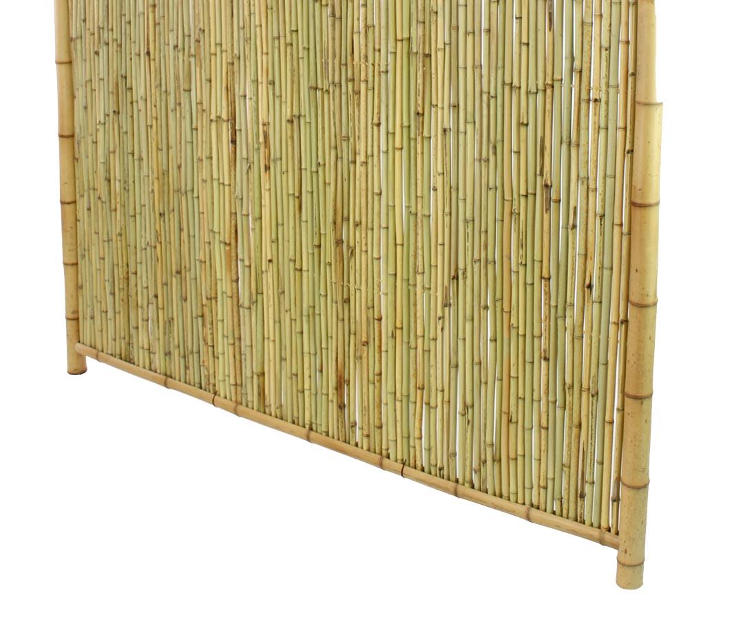 Bambus Sichtschutzzaun Mit Gitter Oben 180x180cm Kaufen