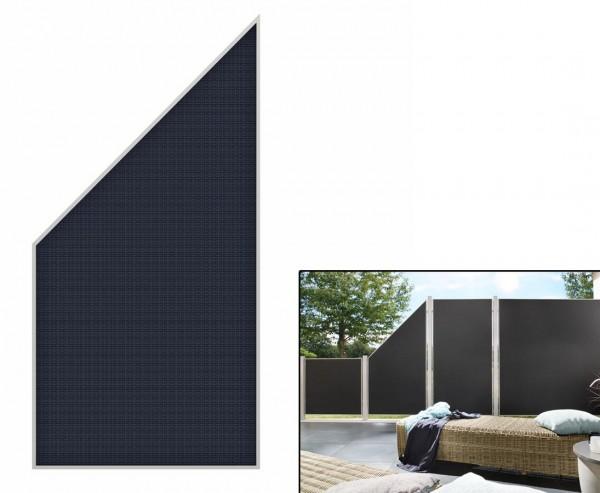"""Sichtschutz Abschluss """"Weave Lüx"""", Textil Bespannung 178 x 88cm, anthrazit"""